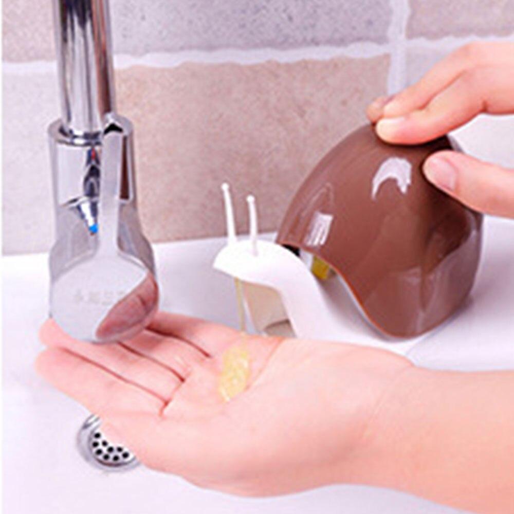 Bescheiden Kreative Cartoon Schnecke Form Tragbaren Flüssige Seife Spender Drücken Dusche Shampoo Abgabe Flaschen Bad Zubehör Q3 Taille Und Sehnen StäRken Badezimmerarmaturen Bad Hardware