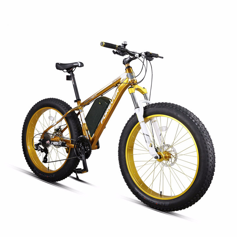 26 inch Electric mountain bicycle Snow ebike fat  Powerful Electric bike MTB 48V1500W ebike 27 speed off-road 4.0 fat tires