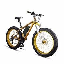 26 дюймов Электрический горный велосипед снег ebike жира мощный электрический велосипед MTB 48V1500W ebike 27 скорость внедорожных 4,0 жира шин