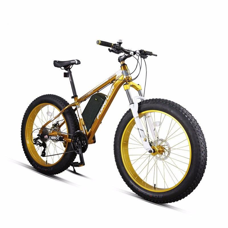 26 polegada ebike bicicleta Elétrica da montanha de Neve gordura Poderosa bicicleta Elétrica ebike MTB 48V1500W 27 velocidade off-road 4.0 pneus de gordura