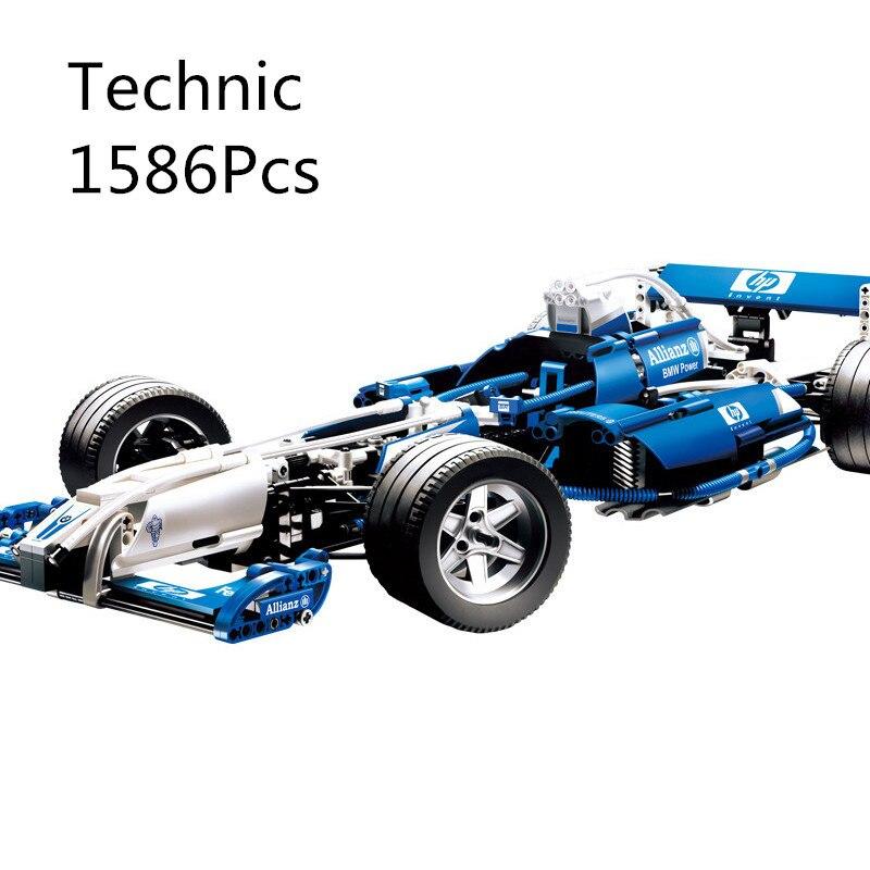 CX 20022 1586Pcs Model building kits Compatible with Lego 8461 The Williams F1 Team Racer Set 3D Bricks figure toys for children figure driving racer maintenance workers 1 18 2pcs set