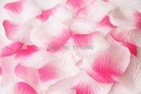 1000 unids Pink & White Rose de Seda de los Pétalos de La Flor Artificial Flores Decorativas de La Boda Pétalo de la flor para La Tabla de La Boda Decoración Del Partido