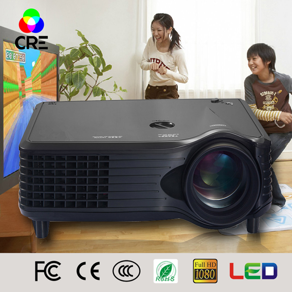 2016 Newest MiNi Home Theater LCD Portable Projector with 800 480p 800 1 1500lumens Cube Body