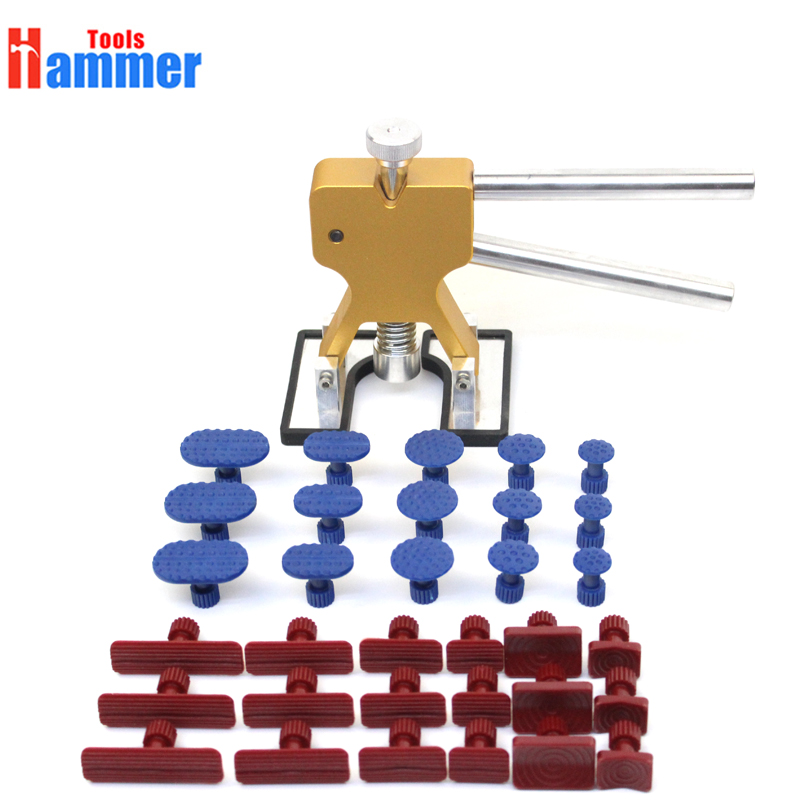 AUTO Paintless Dent Repair Puller Kits Glue Puller Dent Lifter With 33 PCS Different Size Tabs