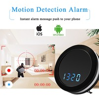 Table Clock Mini Wifi Camera HD 1080P Wireless IP Camcorder Baby Monitor Home Recorder IR Motion Dectection Colorful LED Lights