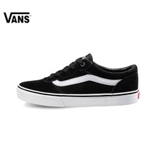 Original Vans Black Men's Skateboarding Shoes Sports Shoes Sneakers free shipping