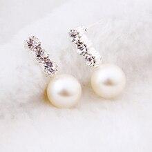 1Pair Hot Women Rhinestones Star Flower Stud Earrings Animal Cute Crystal Korean Version Fashion Jewelry