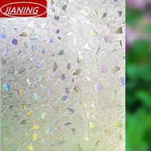 60 cm de ancho estática 3D no plástico puerta corredera ventana dom película de la ventana de aislamiento translúcido decorativo flor de cristal