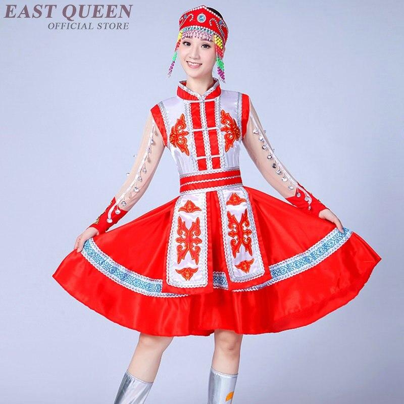 Costume mongol vêtements chinois danse folklorique costumes vêtements robe scène danse porter performance robe mongole DD322