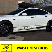 Car Side Skirt Waist Line Words Print Stickers For Tesla Model S Vehicle Logo Car Body Glue Sticker Auto Car Styling Accessories