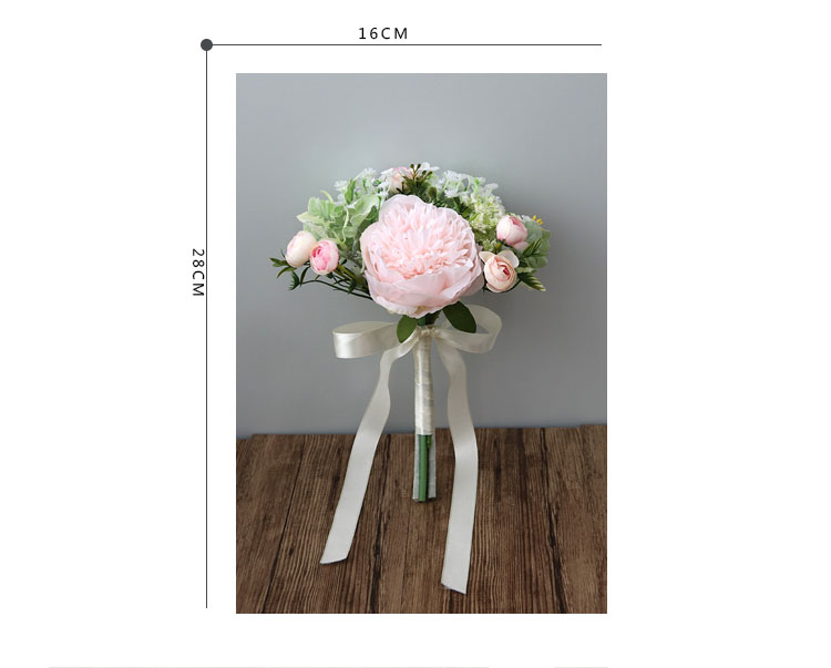 Wedding Bouquet for bridesmaids flowers artificial rose peony (1)
