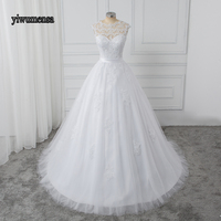 Sexy Boho Wedding Dresses Pearl Crystal Beaded Lace Bridal Gown Factory Custom Made Plus size Real Photo Wedding dress 2018