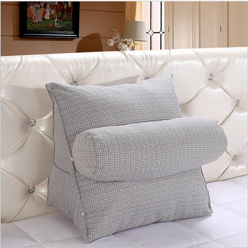 triangulaire dossier coussin pour canape coussins pour lit epais velours oreiller support pour le dos 6 couleurs disponibles dans coussin de maison jardin