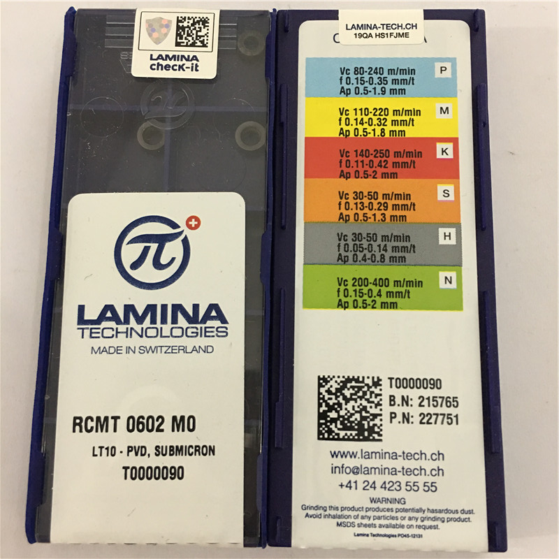 RCMT0602MO LT10 100% Original LAMINA Carbide Insert With The Best Quality 10pcs/lot Free Shipping