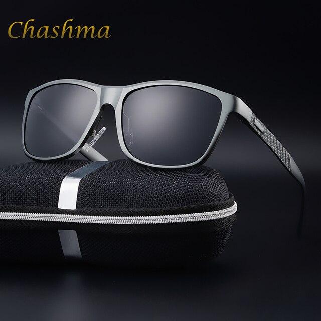 CHASHMA Marca Quadro de Carro de Condução de Alumínio E Magnésio Óculos  Polarizados Óculos de Sol dd76d6278d