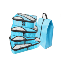QIUYIN Travel Bag For Men Blue Packing Cubes Winter Luggage Women