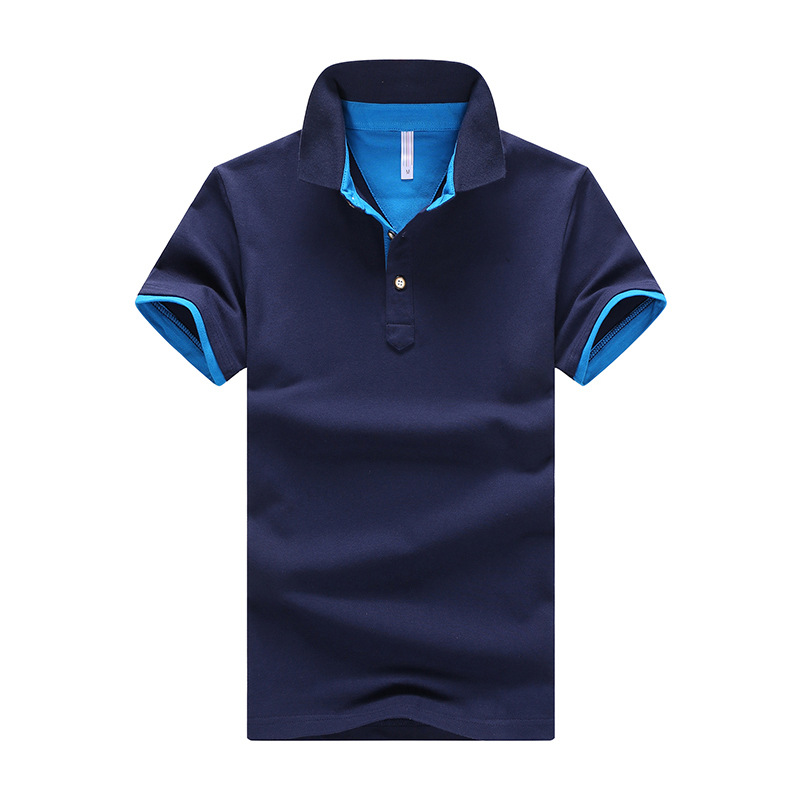 Polo   Shirts Men 2019 Summer Solid Cotton Slim Fit Tops Breathable Casual Short Sleeve Shirts Turn-down Collar Men   Polo   Shirt