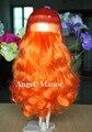 Головы с волосами для блит, Не кукла, Глубокий оранжевый длинные волосы, Кожи, Для подарка девушке TP005