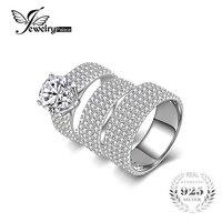 6ct Cubic Zirconia Anniversary Engagement Ring Sets 3 Pcs Bridal Sets Wedding Band 925 Sterling Silver