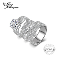 6ct Cubic Zirconia Anniversary Engagement Ring Sets 3 Pcs Bridal Sets Wedding Band 925 Sterling Silver