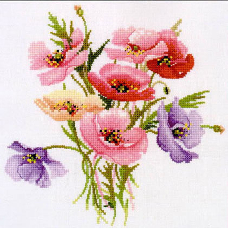 New unfinished Cross Stitch diy Cross Stitch Kit 11CT 14CT DMC Cross Stitch DIY Cross Stitch Kits for Flowers T424XZ