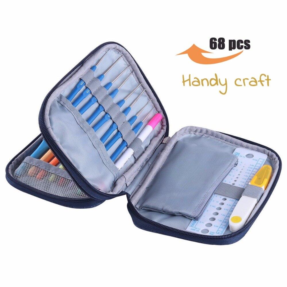 68pcs-Set-KOKNIT-DIY-Crochet-Hooks-Set-With-Storage-Bag-DIY-Craft-Sewing-Tool-Knitting-Hooks