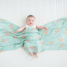Multifunctional Bamboo Cotton Soft Baby Swaddle Blanket Muslin Infant Wrap Bath Towel Bedding For Newborn 120*120cm