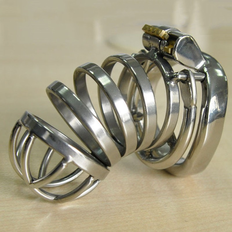 Metal cock rings anti-off cock cage stainless steel male chastity device bird lock cockring penis cage cb6000 sex toys for menMetal cock rings anti-off cock cage stainless steel male chastity device bird lock cockring penis cage cb6000 sex toys for men