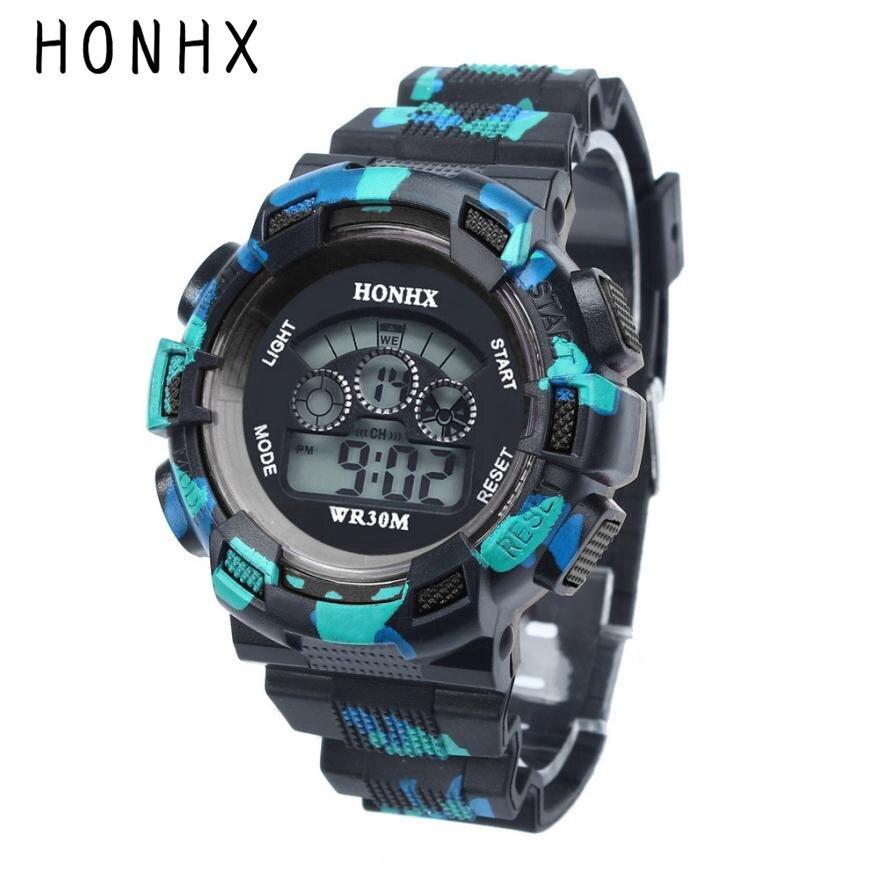 HONHX Children Digital Watches Boys Life Waterproof LED Display Wrist Watch Kids Child Rubber Sports Alarm Date Clock Reloj #JO стоимость