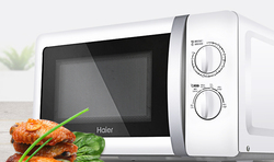 20L Haier mini family microwave oven Hand pull revolve underpan disinfection inside microwave ovens 4D heat radiation