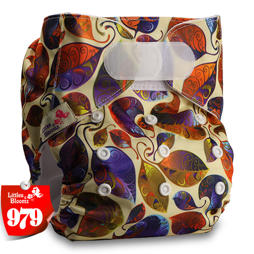 [Littles&Bloomz] Один размер многоразовые тканевые подгузники Моющиеся Водонепроницаемые Детские карманные подгузники стандартная застежка на липучке - Цвет: 979