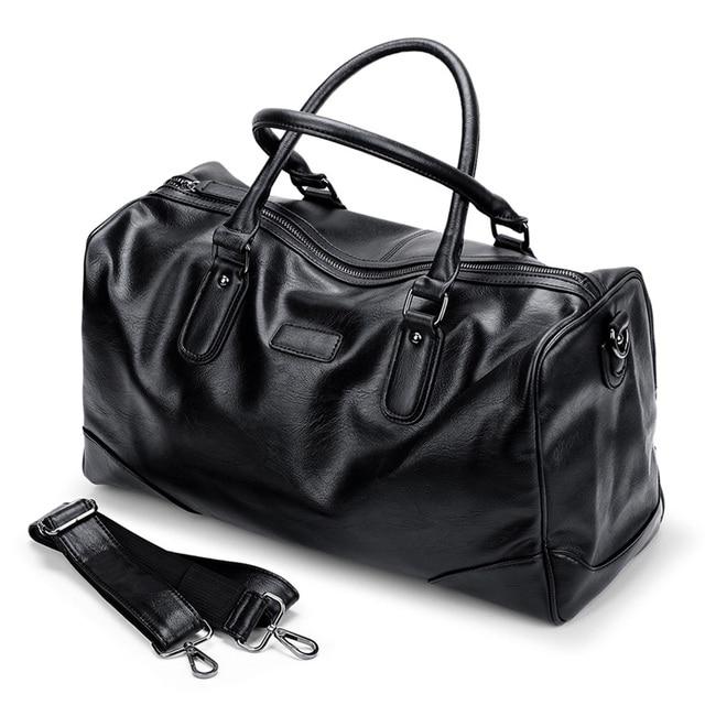 fashion duffle bag hand luggage travel handbags mens leather traveling bag  designer casual men shoulder bag aefa85b61d824