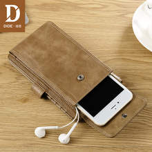 DIDE Casual men Wallets Genuine Cowhide Wallet High Quality Real Leather Short Male coin Phone Pocket design 752