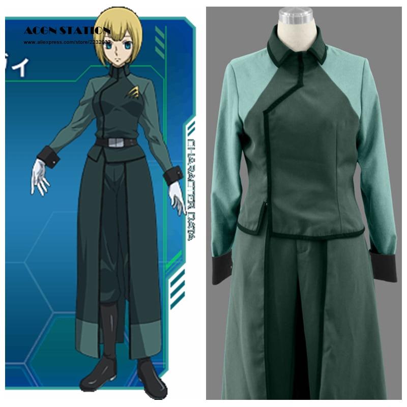 Здесь продается  2018 Top Selling Mobile Suit Gundam Anime A-Laws Female Uniform Cosplay Costume For Children Halloween Customize for plus size   Одежда и аксессуары