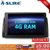 A Sure 9 Inch 2 Din Android 8.0 Car Radio GPS Sat Navi Stereo For BMW E46 MG ZT Rover 75 DAB+ 4GB RAM 32GB ROM