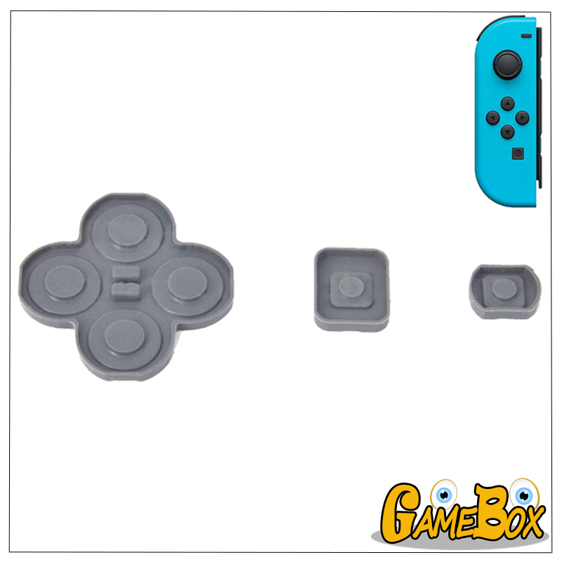 Left Silicone Rubber Button <font><b>Pads</b></font> for <font><b>Nintend</b></font> <font><b>Switch</b></font> Joy-Con Conductive Rubber <font><b>D</b></font>-<font><b>pad</b></font> for <font><b>Switch</b></font> NS Joycon Controller image