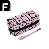 Geometric Diamond Multifunctional Portable Waterproof Women Makeup Bag Storage Organizer Box Beauty Case Travel Cosmetic Bag