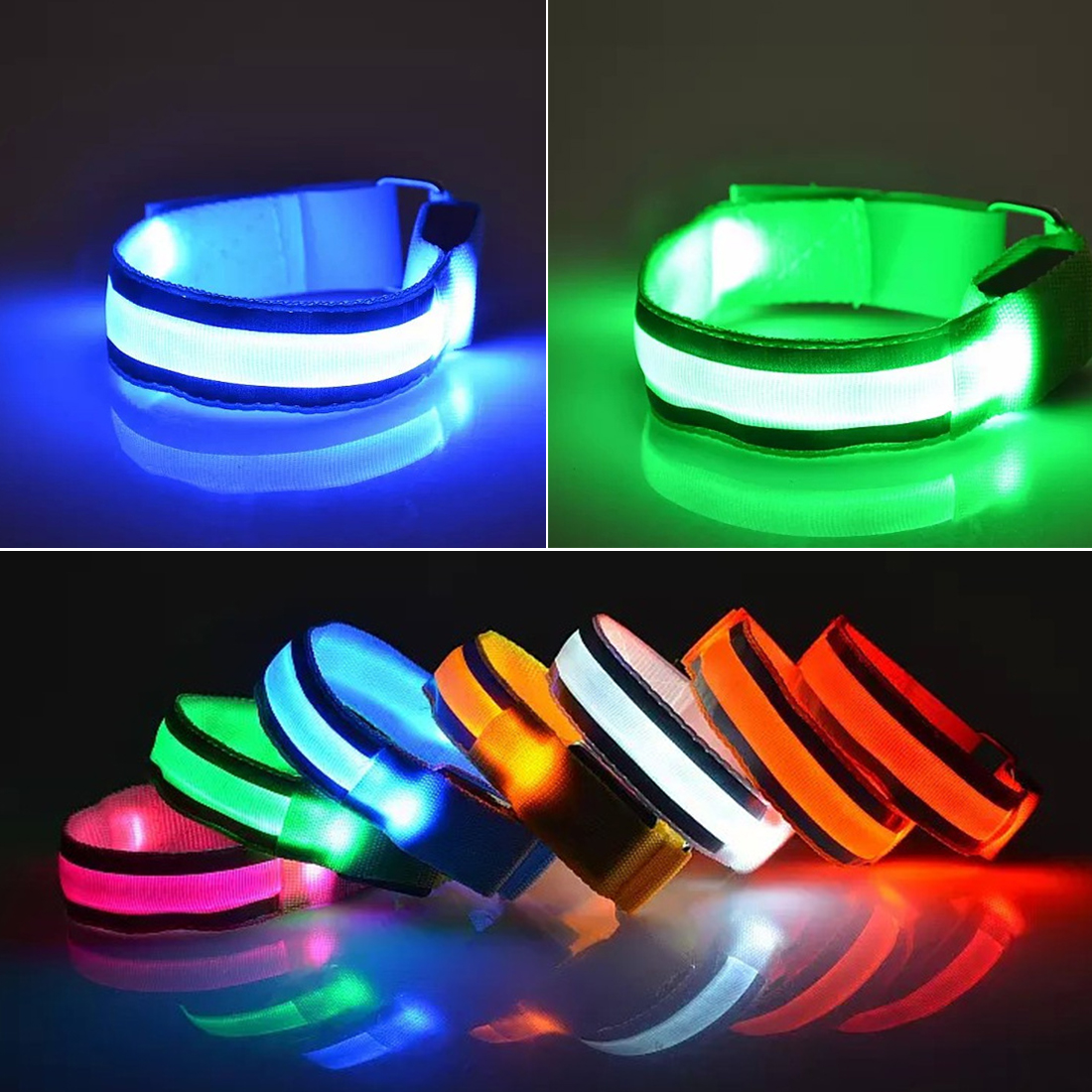 2 X Blue LED SHOE CLIP SAFETY FLASHING LED LIGHT UP HIKING RUNNING JOGGING
