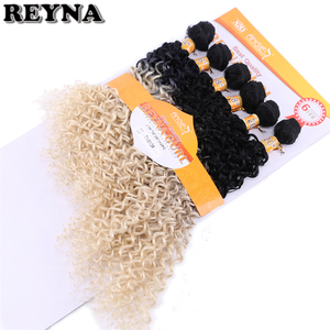 Image 2 - T1B/613 Afro Kinky CURLY Hair สานสูงอุณหภูมิสังเคราะห์ Ombre ผมรวมกลุ่ม