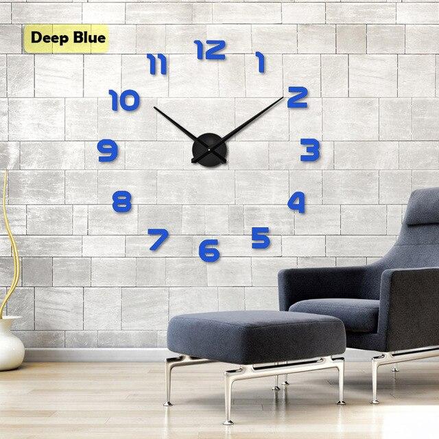 2020 di Trasporto Del Nuovo Orologio Orologi da Parete Orologi Horloge 3d Fai da Te Adesivi Specchio Acrilico Decorazione Della Casa Soggiorno Quarzo Ago 5