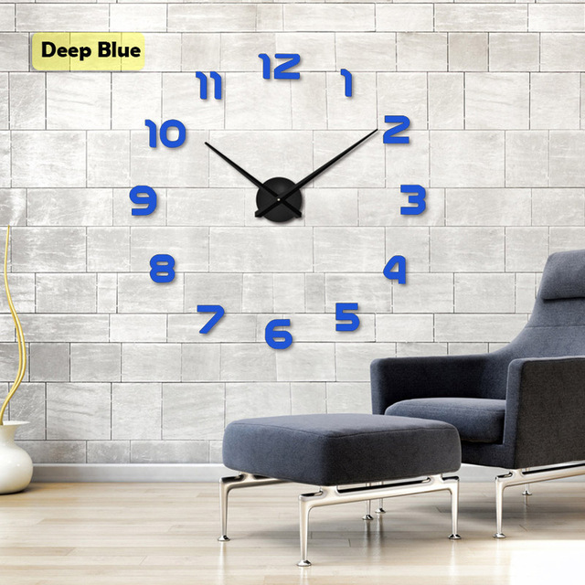 Wall Clocks Mirror Stickers Home Decoration