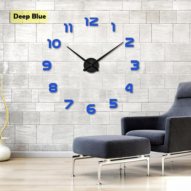 3D Clock Wall Mirror Stickers