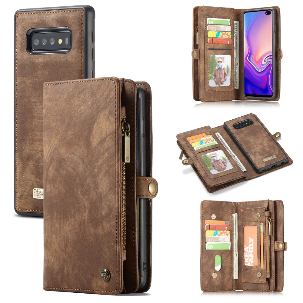 For Coque Samsung Galaxy S10 Wallet Case Detachable Genuine Leather Magnetic Case for Samsung Note 10 A50 A70 A40 S10 Plus S8 wallet