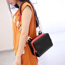 2016Hot Sale  Real PU Fashion Women's handbags Lock Small Flap Simple Shoulder Bags Ladies Mini Female Bag Daily Clutches #B070