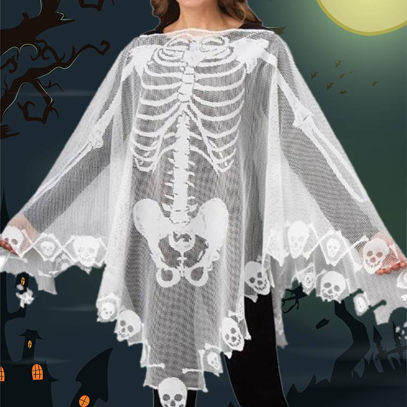 2018 Halloween Eve Women Lace Cosplay Demon Ghost Scary