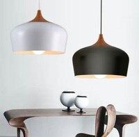 북유럽 간단한 로프트 스타일 나무 예술 droplight 현대 led 펜 던 트 전등 거실 식당 매달려 램프 홈 조명