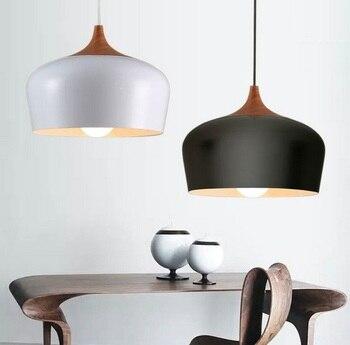 Nordic Simple Loft Style Wood Art Droplight Modern LED Pendant Light Fixtures For Living Dining Room Hanging Lamp Home Lighting