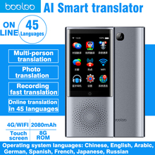 Двухсторонний AI голосовой переводчик с подарком умный автономный переводчик 4g wifi Bluetooth Сенсорный экран фото перевод