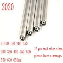 4 pçs/lote 2020 perfil de alumínio 2020 extrusão padrão europeu anodizado trilho linear perfil alumínio 2020 cnc 3d peças da impressora