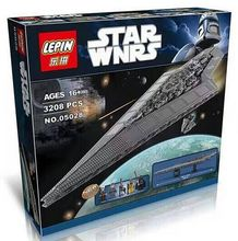 LEPIN 05028 Bloques de Construcción Star Wars Destructor Estelar Imperial Modelo de acción Minifigures Niños Juguetes de Los Ladrillos